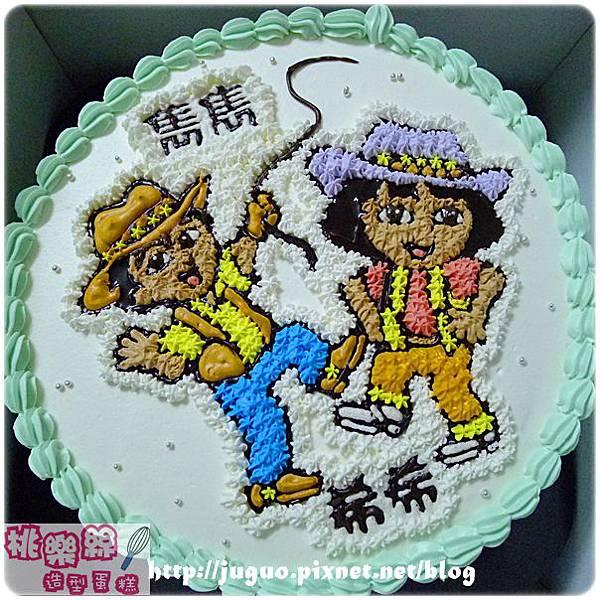 編號K127_Dora vs.Diego卡通蛋糕_10吋1590元/12吋 2090元