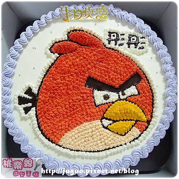 編號S002_Angry Birds_憤怒鳥卡通造型蛋糕_6吋:930元/8吋:1140元/10吋:1440元/12吋:1940元