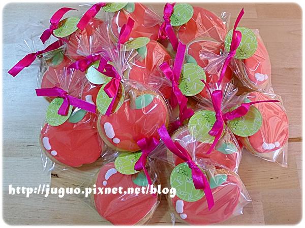 桃樂絲手繪餅乾_糖霜餅乾_客製_小蘋果公主的二歲生日餅乾.JPG