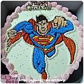 編號:K001_超人卡通蛋糕_10吋:1440元/12吋:1940元