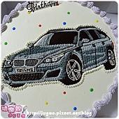 客製_BMW M5造型蛋糕_12吋