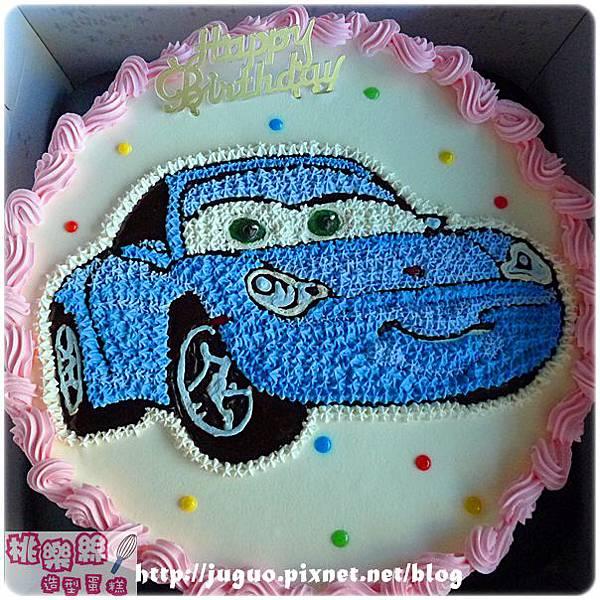 編號:005_Cars莎莉Sally保時捷跑車手繪卡通造型蛋糕_8吋:1140元/10吋:1440元/12吋:1940元