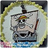 海賊王_梅利號卡通蛋糕_10吋 1330元/12吋 1830元_NO.001