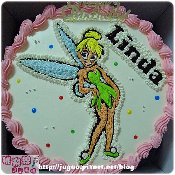 編號001_奇妙仙子tinkerbell卡通造型蛋糕_8吋:1140元/10吋:1440元/12吋:1940元