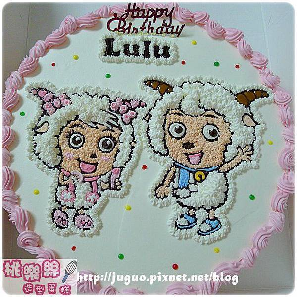 編號K127_美羊羊vs.喜羊羊卡通蛋糕_10吋 1590元/12吋 2090元