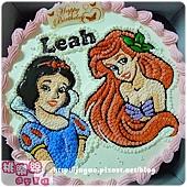 迪士尼_白雪公主vs.小美人魚手繪卡通造型蛋糕_10吋:1330元/12吋:1830元_NO.0012