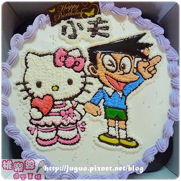 編號k112_KT貓vs.小夫手繪卡通造型蛋糕_8吋 1240元/10吋 1540元/12吋 2040元