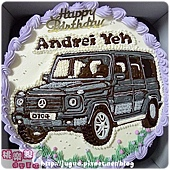 客製_Mercedes-Benz_G500手繪造型蛋糕_10吋