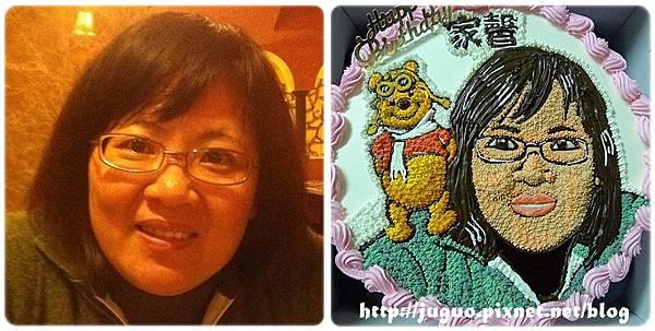 手繪擬真肖像蛋糕vs.小熊維尼_10吋:2200元/2吋:3000元