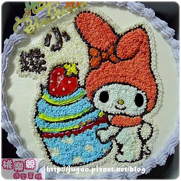 編號004_戴帽兔手繪卡通造型蛋糕_8吋:1090元/10吋:1390元/12吋:1890元