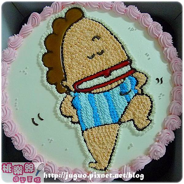 編號:004_我們這一家:花媽手繪卡通造型蛋糕_8吋:1140元/10吋:1440元/12吋:1940元