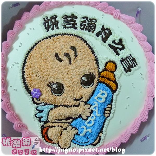 客製_彌月寶寶手繪卡通蛋糕_8吋880元/10吋1180元/12吋 1680元_NO.001