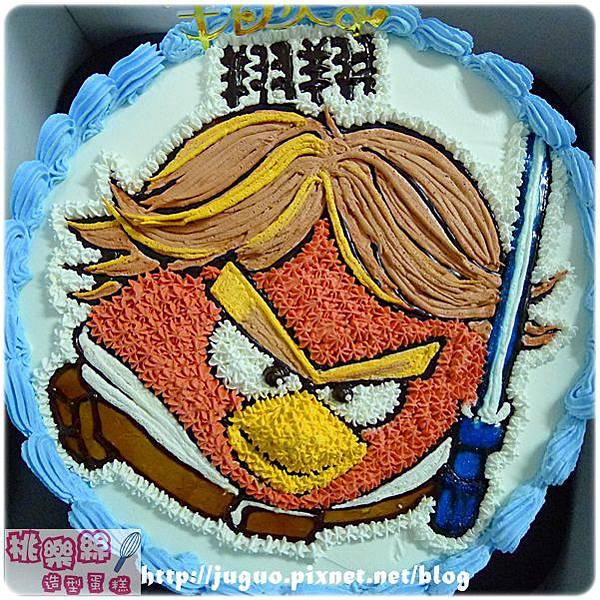 編號008_Angry Birds_憤怒鳥之綠豬手繪卡通蛋糕_8吋 1090元/10吋 1390元/12吋 1890元