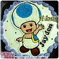 編號:010_瑪莉兄弟:香菇人手繪卡通造型蛋糕_8吋:1140元/10吋:1440元/12吋:1940元
