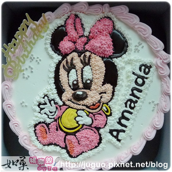 編號006_Minnie米妮手繪卡通造型蛋糕_8吋:1090元/10吋:1390元/12吋:1890元