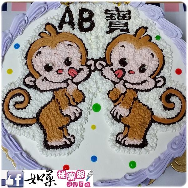 編號:103_可愛小猴子手繪卡通造型蛋糕_8吋 1240元/10吋 1540元/12吋 2040元