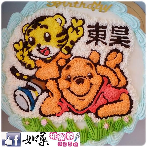 編號:114_小熊維尼vs.巧虎手繪卡通造型蛋糕_8吋:1290元/10吋:1590元/12吋:2090元