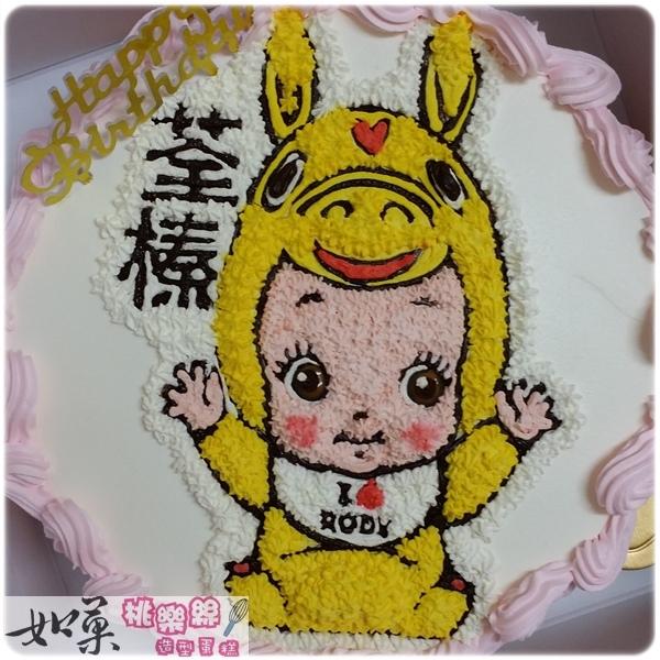 編號:002_跳跳馬寶寶手繪卡通造型蛋糕_8吋:1140元/10吋:1440元/12吋:1940元