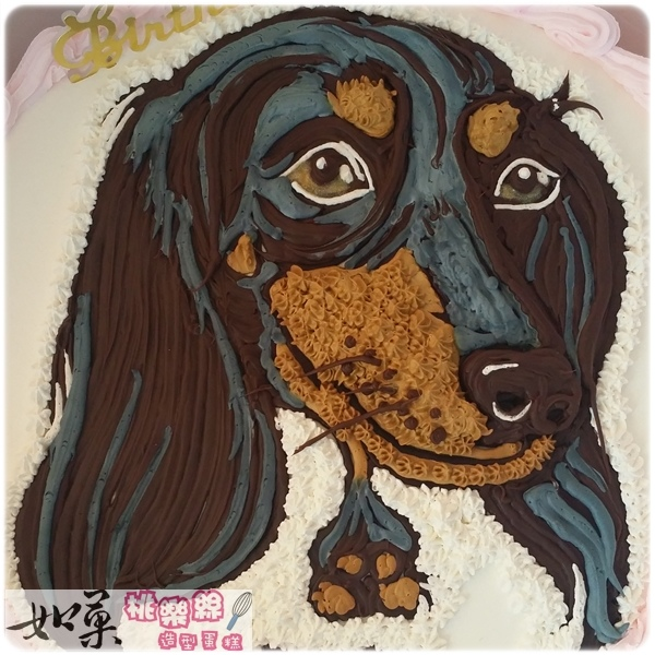 寵物狗手繪擬真肖像蛋糕_10吋:2050元/12吋:2850元