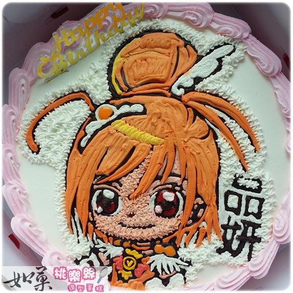 編號:101_光之美少女手繪卡通造型蛋糕_8吋:1240元/10吋:1540元/12吋:2040元