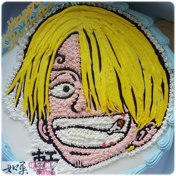 編號027_海賊王:香吉土卡通造型蛋糕_8吋:1140元/10吋:1440元/12吋:1940元