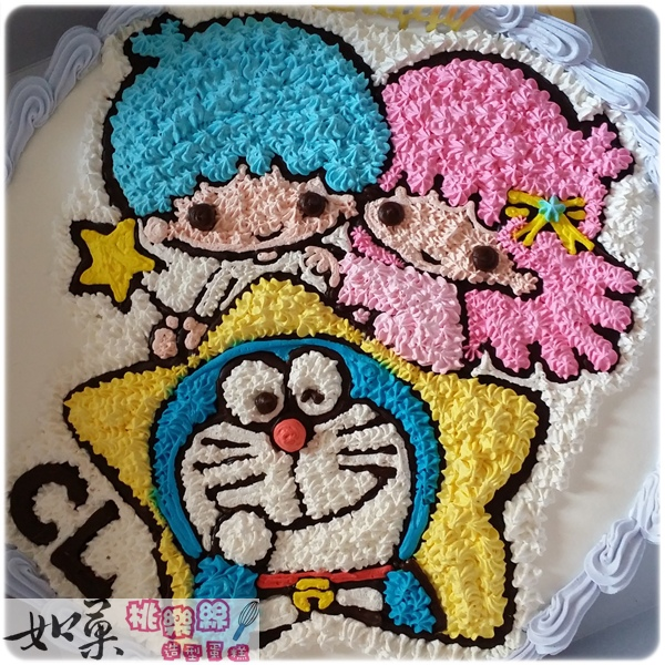 編號K212_雙子星+哆啦a夢手繪卡通造型蛋糕_10吋:1740元/12吋:2240元