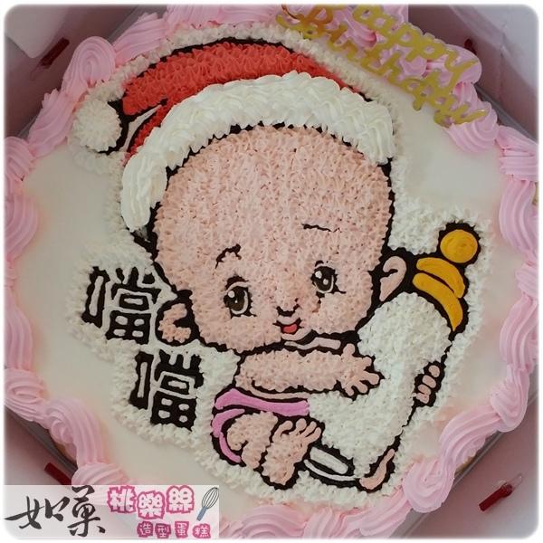 編號004_聖誕寶寶(女孩)手繪卡通造型蛋糕_8吋:1140元/10吋:1440元/12吋:1940元