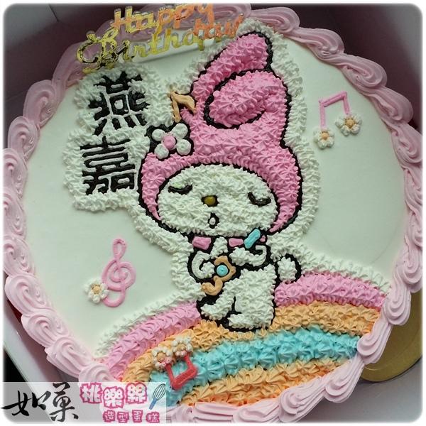 編號006_戴帽兔手繪卡通造型蛋糕_8吋:1140元/10吋:1440元/12吋:1940元