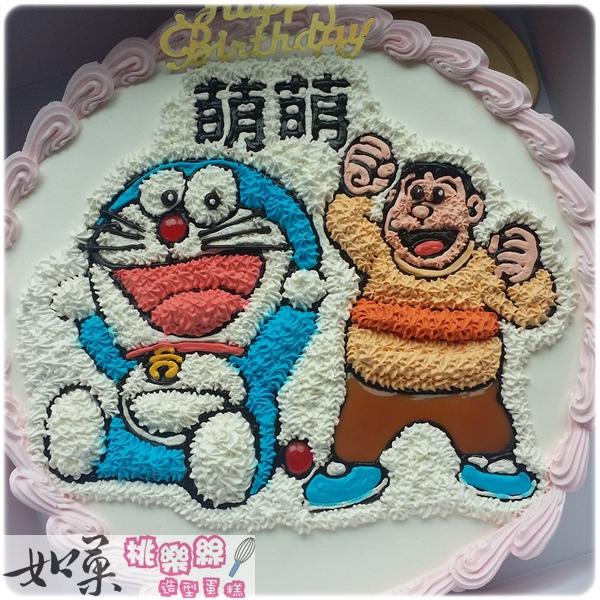 編號:k108_哆啦A夢:小叮噹vs.胖虎_手繪卡通造型蛋糕_10吋:1590元/12吋:2090元