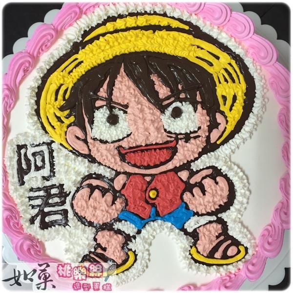 編號030_海賊王:魯夫卡通造型蛋糕_8吋:1140元/10吋:1440元/12吋:1940元