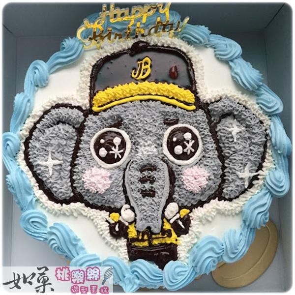 編號:003_運動類:棒球吉祥物手繪卡通蛋糕_8吋 1090元/10吋 1390元/12吋 1890元