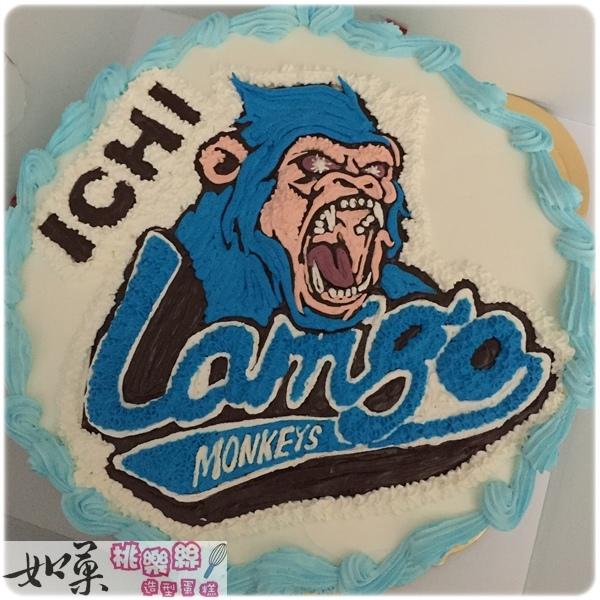 編號:K202_運動類:棒球吉祥物Lamego手繪卡通蛋糕_10吋 :1740元/12吋 2240元