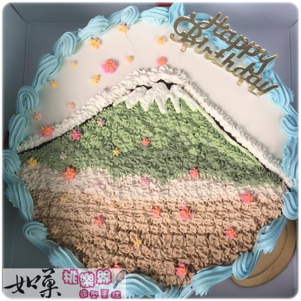 客製作品_富士山手繪卡通蛋糕_8吋:1140元/10吋:1440元/12吋:1940元