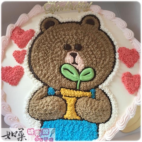 編號:005_熊大卡通造型蛋糕_8吋:1140元/10吋:1440元/12吋:1940元