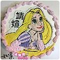 編號018_長髮公主手繪卡通蛋糕_8吋:1140元/10吋:1440元/12吋:1940元