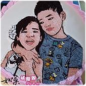 手繪擬真雙人肖像蛋糕_12吋:3260元