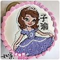 編號023_蘇菲亞公主手繪卡通蛋糕_8吋:1140元/10吋:1440元/12吋:1940元