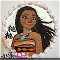 編號157_海洋奇緣莫娜卡通造型蛋糕_8吋:1290元/10吋:1590元/12吋:2090元