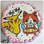 編號:K103_寶可夢-皮卡丘+妖怪手錶-吉胖喵卡通蛋糕_10吋:1590元/12吋:2090元