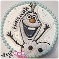 編號004_冰雪奇緣雪寶卡通造型蛋糕_8吋 1140元/10吋 1440元/12吋 1940元