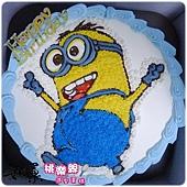 編號001_神偷奶爸小小兵卡通造型蛋糕_8吋:1090元/10吋:1390元/12吋:1890元