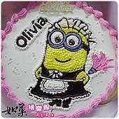 編號002_神偷奶爸小小兵卡通造型蛋糕_8吋:1090元/10吋:1390元/12吋:1890元