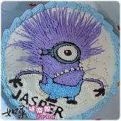 編號K003_神偷奶爸小小兵卡通造型蛋糕_10吋:1440元/12吋:1940元