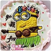 編號009_神偷奶爸小小兵卡通造型蛋糕_8吋:1090元/10吋:1390元/12吋:1890元