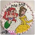 編號K158_小美人魚vs.貝兒公主手繪卡通造型蛋糕_10吋 1590元/12吋 2090元
