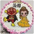 編號K159_麵包超人vs.貝兒公主手繪卡通造型蛋糕_10吋 1590元/12吋 2090元