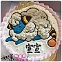 編號:037_寶可夢-咩利羊手繪卡通蛋糕_8吋:1140元/10吋:1440元/12吋:1940元