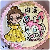 編號K160_貝兒公主vs.寶可夢仙子精靈手繪卡通造型蛋糕_10吋 1540元/12吋 2040元