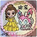編號K160_貝兒公主vs.寶可夢仙子精靈手繪卡通造型蛋糕_10吋 1590元/12吋 2090元