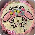 編號:008_戴帽兔手繪卡通造型蛋糕_8吋:1140元/10吋:1440元/12吋:1940元